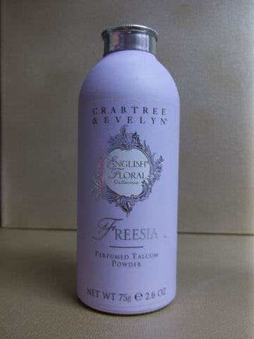 Crabtree & Evelyn Freesia English Floral Perfumed Talcum Powder 2.6 oz. - Discontinued Beauty Products LLC