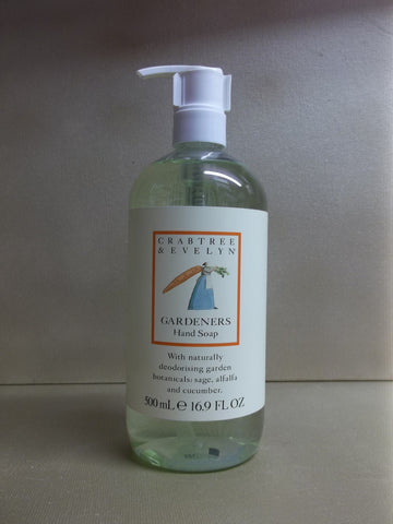 Crabtree & Evelyn Gardeners Hand Soap 16.9 oz. - Discontinued Beauty Products LLC