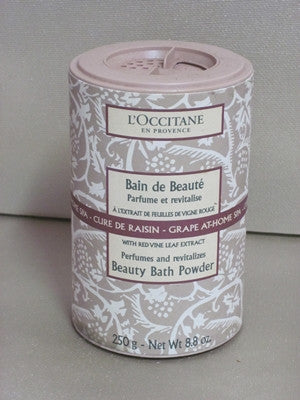 L Occitane Grape At Home Beauty Bath Powder Discontinued Beauty Products Llc