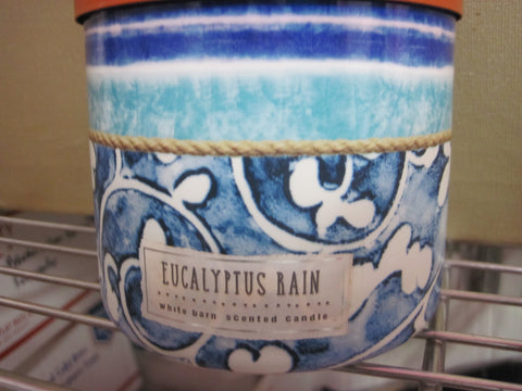 BATH & BODY WORKS THREE WICK CANDLE 14.5 oz EUCALYPTUS RAIN - Discontinued Beauty Products LLC