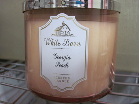 BATH & BODY WORKS THREE WICK CANDLE 14.5 oz GEORGIA PEACH - Discontinued Beauty Products LLC