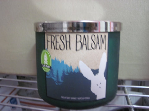 BATH & BODY WORKS THREE WICK CANDLE 14.5 oz FRESH BALSAM - Discontinued Beauty Products LLC