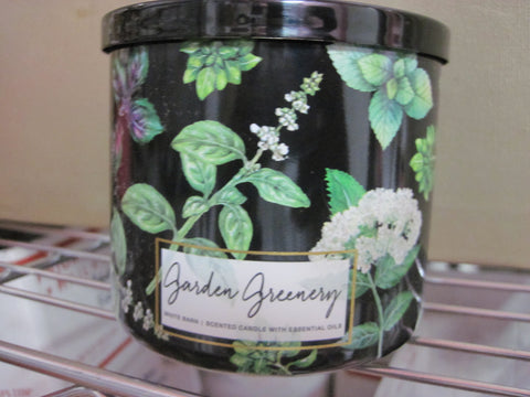 BATH & BODY WORKS THREE WICK CANDLE 14.5 oz GARDEN GREENERY - Discontinued Beauty Products LLC