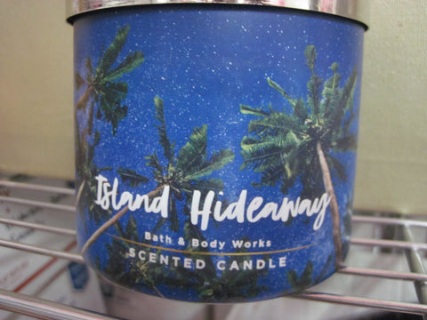BATH & BODY WORKS THREE WICK CANDLE 14.5 oz ISLAND HIDEWAY - Discontinued Beauty Products LLC