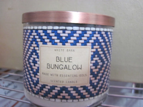BATH & BODY WORKS THREE WICK CANDLE 14.5 oz BLUE BUNGALOW - Discontinued Beauty Products LLC