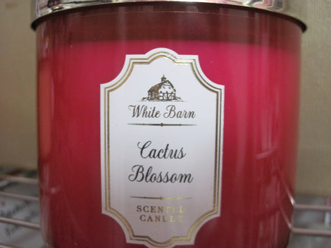 BATH & BODY WORKS THREE WICK CANDLE 14.5 oz CACTUS BLOSSOM - Discontinued Beauty Products LLC