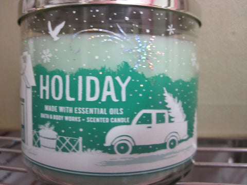 BATH & BODY WORKS THREE WICK CANDLE 14.5 oz HOLIDAY - Discontinued Beauty Products LLC