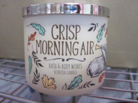 BATH & BODY WORKS THREE WICK CANDLE 14.5 oz CRISP MORNING AIR - Discontinued Beauty Products LLC