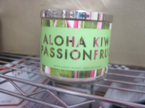 BATH & BODY WORKS THREE WICK CANDLE 14.5 oz ALOHA KWIK PASSIONFRUIT - Discontinued Beauty Products LLC