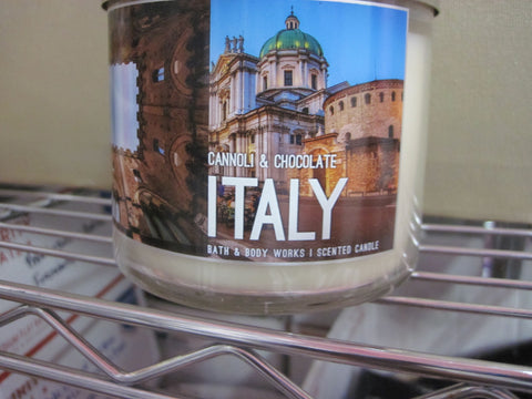 BATH & BODY WORKS THREE WICK CANDLE 14.5 oz  CANNOLI & CHOCOLATE ITALY - Discontinued Beauty Products LLC