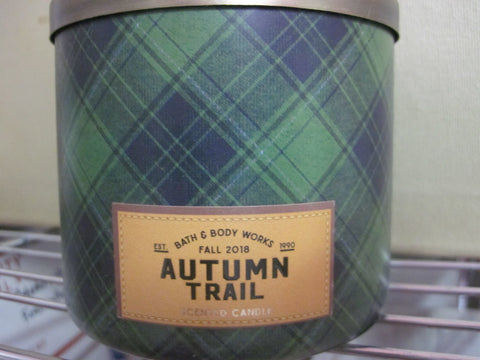 BATH & BODY WORKS THREE WICK CANDLE 14.5 OZ AUTUMN TRAIL - Discontinued Beauty Products LLC