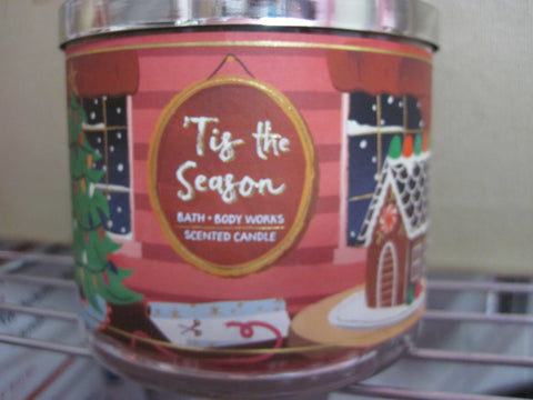 BATH & BODY WORKS THREE WICK CANDLE 14.5 OZ  TIS THE SEASON - Discontinued Beauty Products LLC
