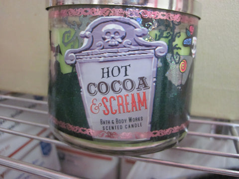 BATH & BODY WORKS THREE WICK CANDLE 14.5 OZ  HOT COCOA SCREAM - Discontinued Beauty Products LLC
