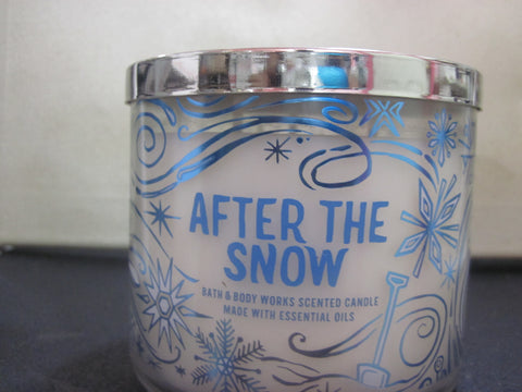 BATH & BODY WORKS THREE WICK CANDLE 14.5 OZ AFTER THE SNOW - Discontinued Beauty Products LLC