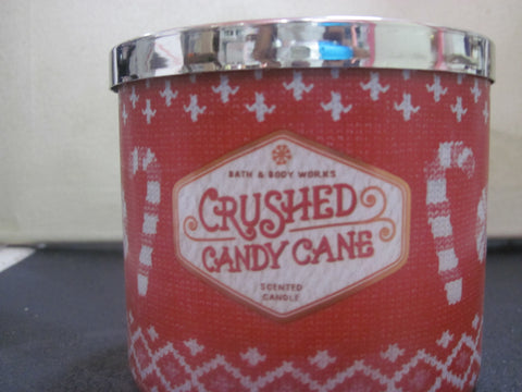 BATH & BODY WORKS THREE WICK CANDLE 14.5 OZ CRUSHED CANDY CANE - Discontinued Beauty Products LLC