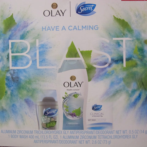 BLAST OLAY SECRET 3PCS BODY WASH INVISIBLE SOLID SECRET SOLID - Discontinued Beauty Products LLC