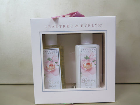 CRABTREE & EVELYN 2 Piece gift set Evelyn Rose (the original scent) - Discontinued Beauty Products LLC