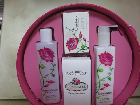 CARBTREE & EVELYN Rosewater Hat Box With Rosewater Products - Discontinued Beauty Products LLC