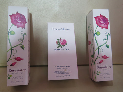 Crabtree & Evelyn Rosewater 4 piece Gift Set