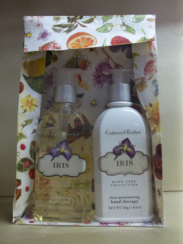 Crabtree & Evelyn Iris 2pc Hand Care Gift Set - Hand Wash 8.5 oz. and Hand Therapy 8.8 oz. - Discontinued Beauty Products LLC