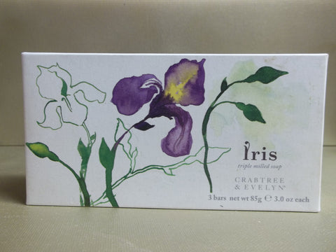 Crabtree & Evelyn Iris Triple Milled Soap 3 Bars 3 oz each - Discontinued Beauty Products LLC