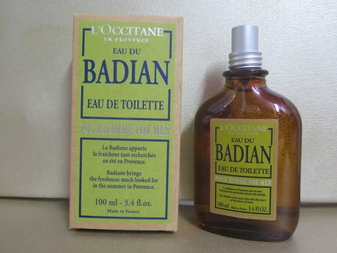 L'Occitane Eau De Badian Eau De Toilette for Men 3.4 oz.