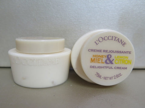 L'Occitane Honey & Lemon Body Cream Set of 2 at 2.6 oz. each