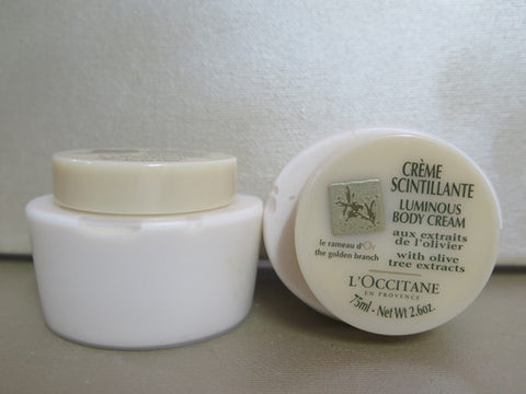 L'Occitane The Golden Branch Body Cream Set of 2 2.6 oz. each