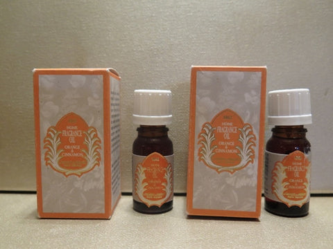 Le Couvent Des Minimes Orange & Cinnamon Home Fragrance Oil 0.33 oz. each Set of 2