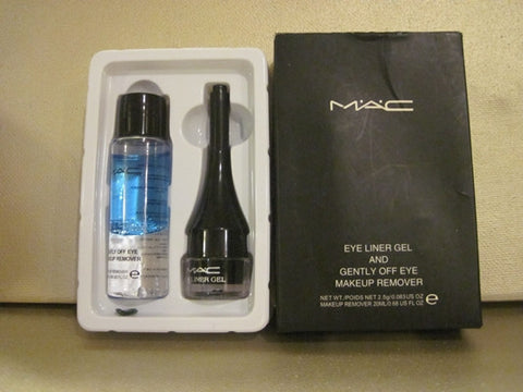 MAC Eye Liner Gel .08 oz & Gently Off Eye Makeup Remover .68 oz.