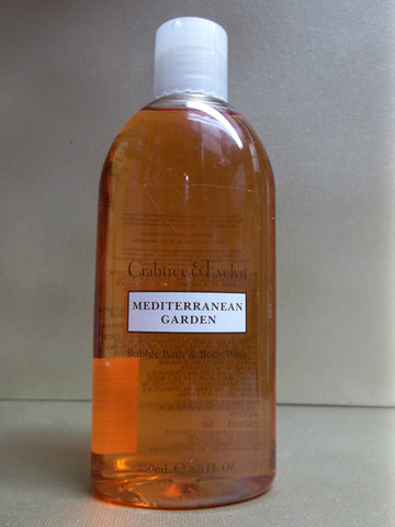 Crabtree & Evelyn Mediterranean Garden Bubble Bath & Body Wash 8.5 oz - Discontinued Beauty Products LLC