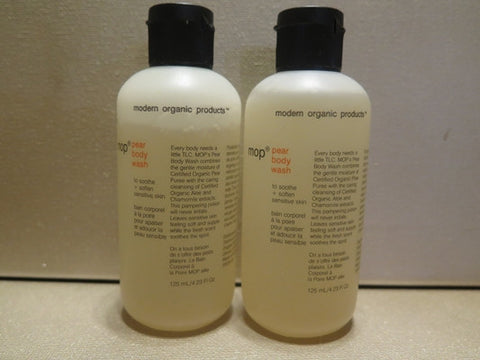 Modern Organic Products Pear Body Wash 4.23 oz. each Set of 2 Misc.