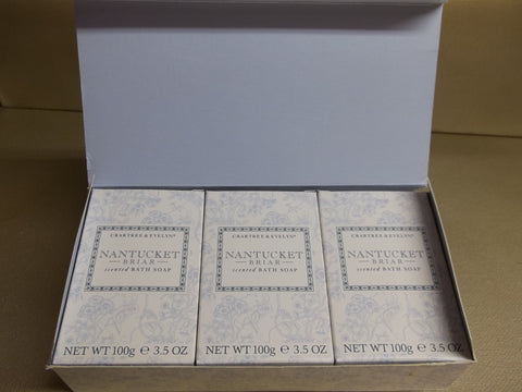 Crabtree & Evelyn Nantucket Briar Scented Bath Soap 3 Bars 3.5 oz. - Discontinued Beauty Products LLC