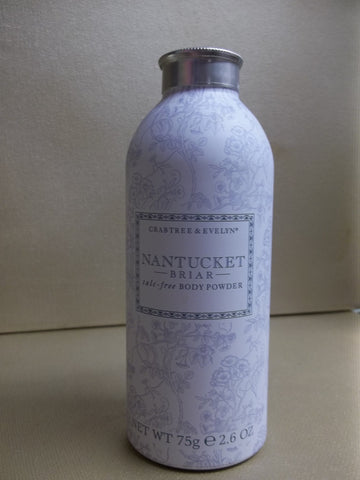 Crabtree & Evelyn Nantucket Briar Talc-Free Body Powder 2.6 oz. - Discontinued Beauty Products LLC