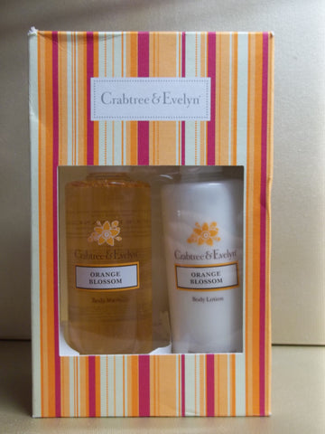 Crabtree & Evelyn Orange Blossom Gift Set, Body Wash and Lotion 8.5 each