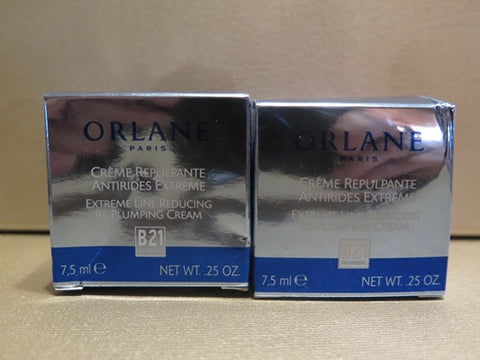 Orlane Extreme Line Reducing Re-Plumping Cream Set of 2 0.25 oz. each