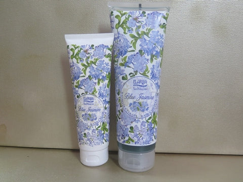 Perlier Blue Jasmine Hand Cream & Bath Gel Set