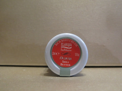 Perlier Elariia Acacia Shea Butter Rich Body Cream 1 oz.