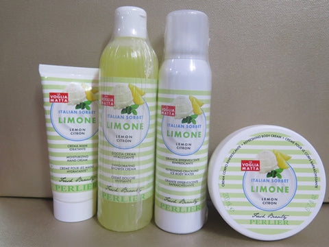 Perlier Limone Lemon Citron Gift Set - Discontinued Beauty Products LLC