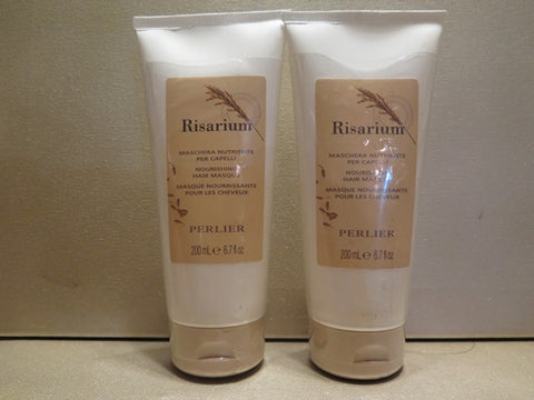 Perlier Risarium Nourishing Hair Mask 6.7 oz. each Set of 2