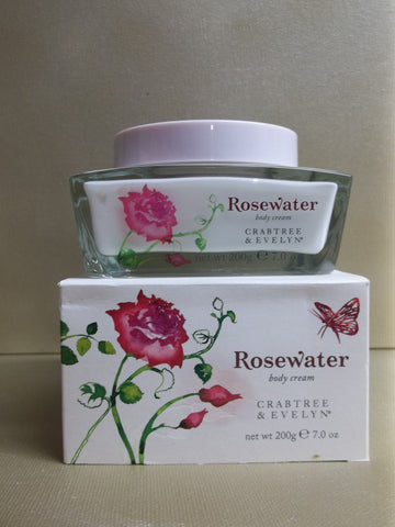Crabtree & Evelyn Rosewater Body Cream 7 oz.