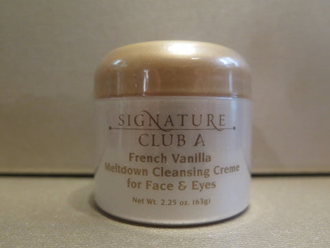 Signature Club A French Vanilla Meltdown Cleansing Creme for Face & Eyes 2.25 oz. Misc.