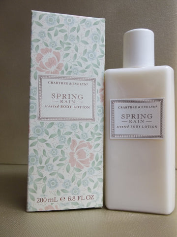 Crabtree & Evelyn Spring Rain Scented Body Lotion 6.8 oz.