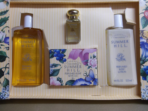 Crabtree & Evelyn Summer Hill 4pc Gift Set - Foaming Bath Gel 4.4 oz., Body Lotion 4.4 oz., Eau De Toilette 0.5 oz., Bar Soap 3.5 oz.