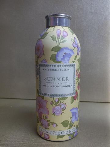 Crabtree & Evelyn Summer Hill Talc-Free Body Powder 2.6 oz. Full Size