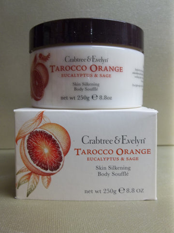 Crabtree & Evelyn Tarocco Orange Eucalyptus & Sage Skin Silkening Body Souffle 8.8 oz.