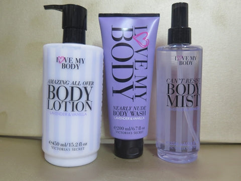 Victoria's Secret Love My Body Amazing All Over Lavender & Vanilla Gift Set