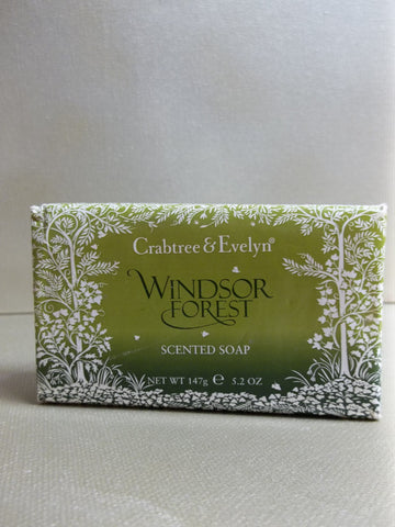 Crabtree & Evelyn Windsor Forest Scented Soap 5.2 oz.