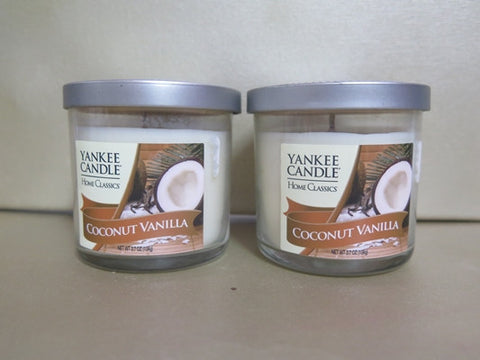 Yankee Candle Coconut Vanilla Candle Set of 2 at 3.7 oz. each