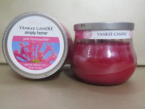 Yankee Candle Pink Honeysuckle Candle Set of 2 at 7 oz. each
